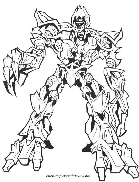 Transformers Para Colorear Colorearploofr