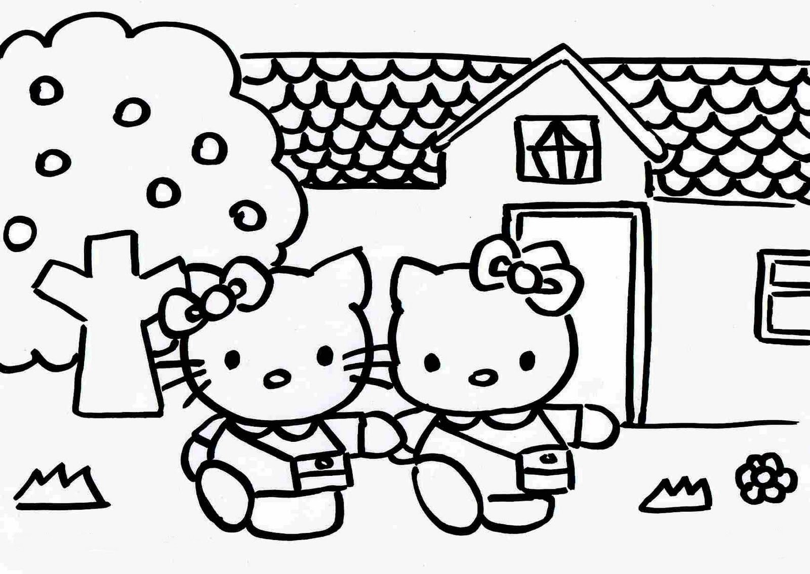 Hello Kitty Para Colorear Colorearploofr